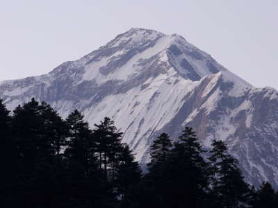 Dhaulagiri after sunset
