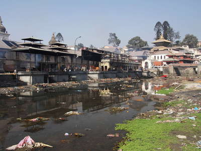 Kathmandu  |  Bagmati River and Pashupatinath Temple