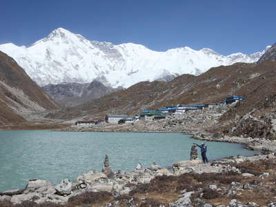 Gokyo Valley  |  Third Lake and Cho Oyu
