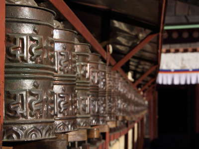 Tengboche Monastery  |  Prayer wheels