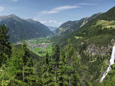 Ötztal with Umhausen and Stuibenfall