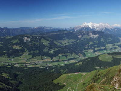 St. Johann in Tirol and mountain panorama