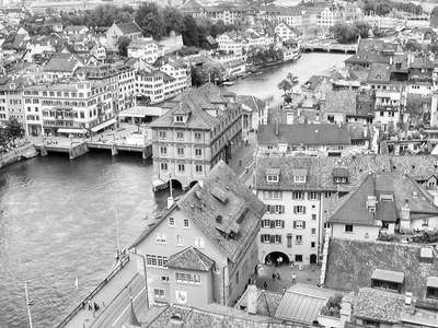 Zuerich  |  Limmat River and historic centre