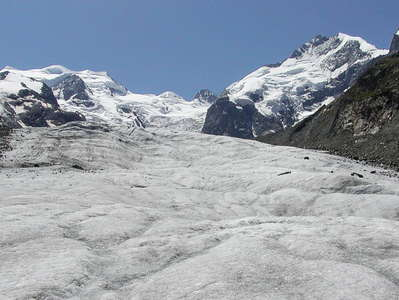Morteratschgletscher and Piz Bernina