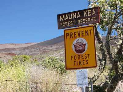 Mauna Kea  |  Warning sign