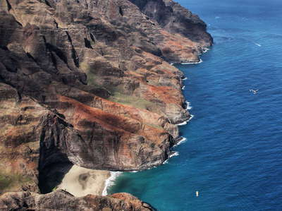 Nā Pali Coast with Honopū Sea Arch