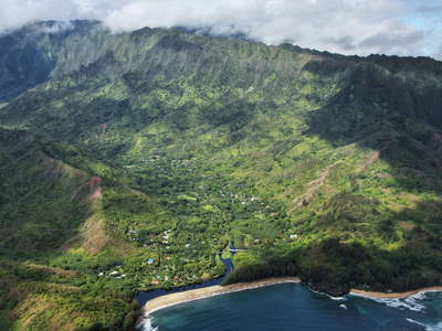 Hanalei  |  Wainiha Valley and Namolokama Mountains