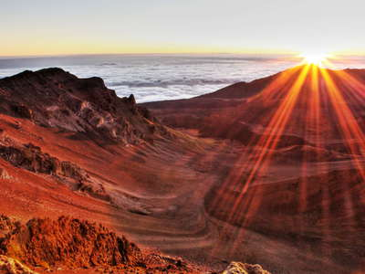 Haleakalā Crater at sunrise