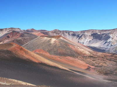 Haleakalā Crater with cinder cones