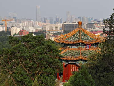Beijing  |  Jingshan Park with pavillon