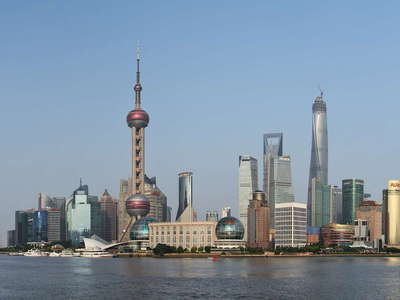 Shanghai  |  Panorama of Huangpu River and Pudong