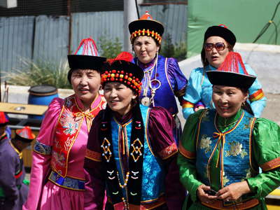 Ulaan Baatar  |  Traditional fashion at Zaisan Hill