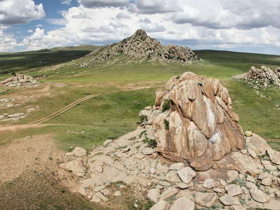 Mongol Els  |  Granite formation