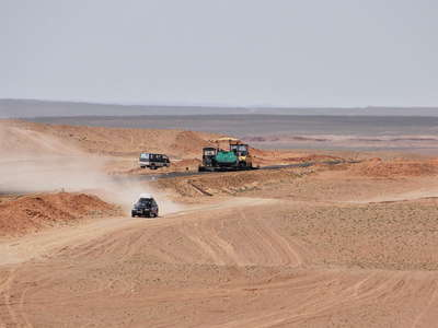 Gobi  |  Road construction