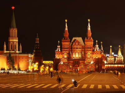 Moscow  |  Red Square with Historical Museum