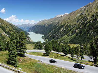 Kaunertal | Treeline area and Gepatsch Reservoir
