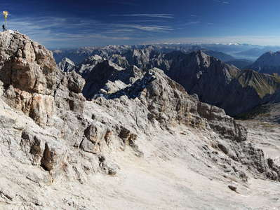 Wetterstein Mountains with Zugspitze