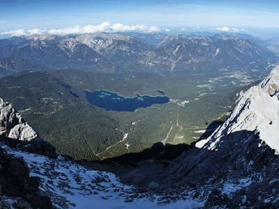 Lake Eibsee panorama