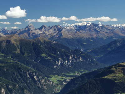 Hinterrheintal Valley and Bernina Mountains