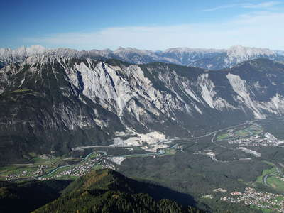 Inntal Valley with Tschirgant Rock Avalanche