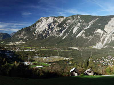 Inntal Valley panorama with Haiming Rock Avalanche and  Tschirgant
