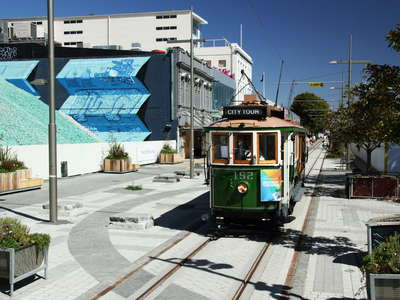 Christchurch  |  Cashel Street with tramway