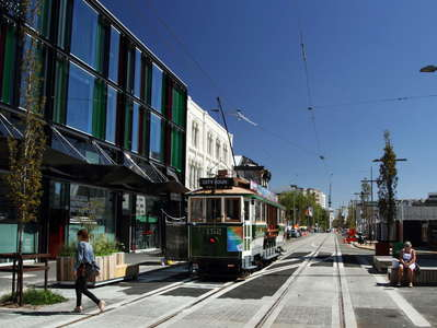 Christchurch  |  High Street with tramway