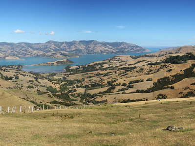 Banks Peninsula  | Panorama of  Akaroa Harbour