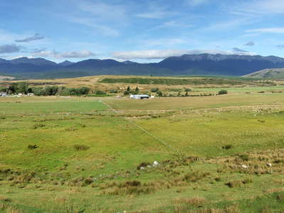 Te Anau Downs  |  Farmland and Livingston Mountains
