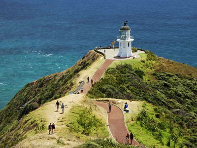 Cape Reinga with lighthouse