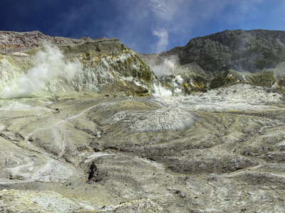 Whakaari / White Island  |  Panorama of the crater area