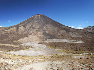 Tongariro NP  |  Panorama of Mt. Ngauruhoe