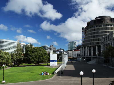 Wellington  |  Parliament Buildings with Beehive