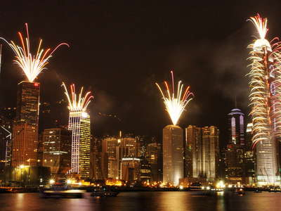 Hong Kong  |  New Year fireworks