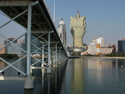 Macau  |  Macau-Taipa Bridge and entertainment district