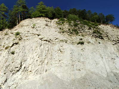 Köfels Rock Slide | Eroded deposit
