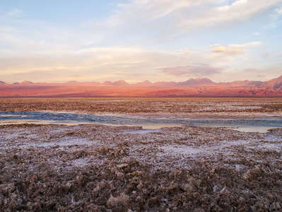 Salar de Atacama at sunset