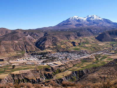 Putre and Nevado Taapacá  |  Panorama