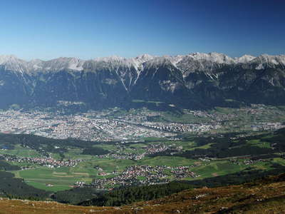 Inntal Valley panorama with Innsbruck
