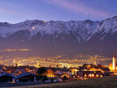 Aldrans with Innsbruck and Karwendel Mountains