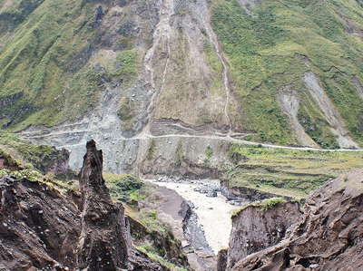 Baños  |  Lahar flow and landslide