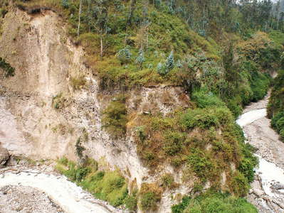 Quito  |  River undercutting