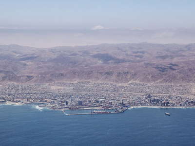 Antofagasta with coast range
