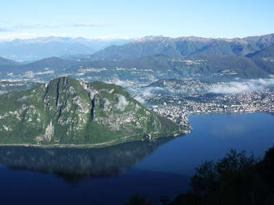 Monte San Salvatore and Lugano