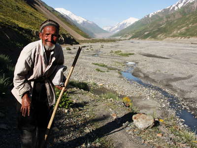 Upper Zarafshan Valley with Shepherd