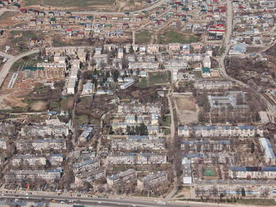 Dushanbe  |  Suburb with residential buildings