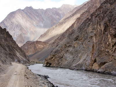 Bartang Valley with main road