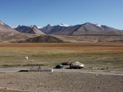 Alichur Pamir with Kyrgyz yurt