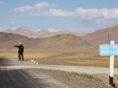 Alichur Pamir  |  Pamir Highway and Kyrgyz man