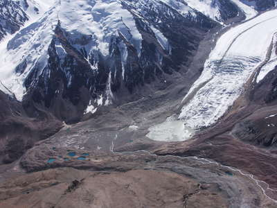 Northern Zulumart Glacier with lake